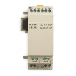 Omron - ZEN-8E1AR - Input/Output Module, Number of Inputs: 4, Number of Outputs: 4, Power Required: 100 to 240VAC