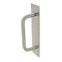 Rockwood / Assa Abloy - 102 X70C.3 - Pull Plate, Round Grip, Brass, 4 x16 In