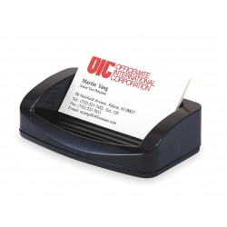 OfficeMate - 22332 - OIC 2200 Series Business Card/Clip Holder - 1.4 x 7.8 x 3 - Plastic - 1 Each - Black