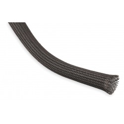 Techflex - CCP0.13BK - Expandable Braided Sleeving, I.D.: 0.125, Length: 100 ft., Black