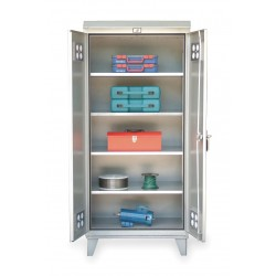 Strong Hold - 46-WP-244 - Storage Cabinet, Silver , 78 Overall Height, Assembled