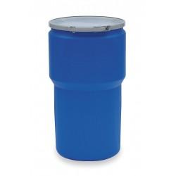 Eagle Mfg - 1610MB - Drum Open Head Plain Cover 14 Gal Blue High Density Polyethylene 28.5 In Hx21.12 In Dia Un 1h2/x120/s Eagle Mfg Co., Ea
