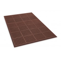 Apex Tool - T11S3958RD - Interlocking Drainage Mat, Nitrile, Red, 4 ft. 10 x 3 ft. 3, 1 EA