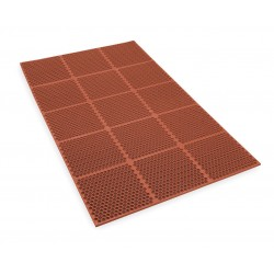 Apex Tool - T15S0036RD - Interlocking Drainage Runner, Nitrile, Red, 6 ft. x 3 ft., 1 EA