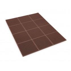 Apex Tool - T15S0034BR - Interlocking Drainage Mat, Nitrile, Brown, 4 ft. x 3 ft., 1 EA
