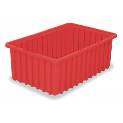 Akro-Mils / Myers Industries - 33168RED - Container Divider Box Pewter 8 Hx10 7/8 Wx16 1/2 L .59 Cubic Feet High Density Polyethylene Akro-mils, Ea