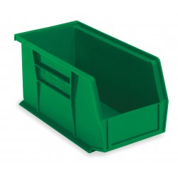 "Akro-Mils / Myers Industries - 30240GREEN - Hang and Stack Bin, Green, 14-3/4"" Outside Length, 8-1/4"" Outside Width, 7"" Outside Height"