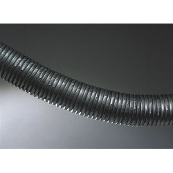 Hi Tech Duravent - 0337-0075-0001-60 - 25 ft. Thermoplastic Rubber Industrial Ducting Hose with 0.7 Bend Radius, Black