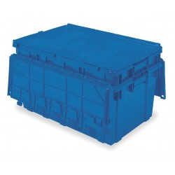 Buckhorn / Myers Industries - AR2717120209057 - Attached Lid Container, Blue, 12-1/2H x 27L x 16-15/16W, 1EA