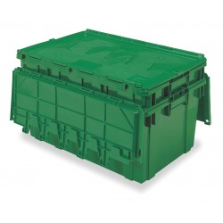 Buckhorn / Myers Industries - AR2717120204069 - Attached Lid Container, Green, 12-1/2H x 27L x 16-15/16W, 1EA