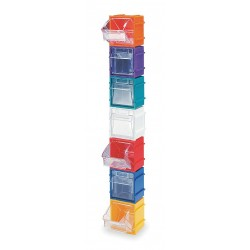 Quantum Storage Systems - QTB409RD - Tip Out Bin, Red, 3H x 2-3/8L x 2-13/16W, 1EA