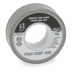Anti-Seize - 46231A - 1/2W Nickel Filled with PTFE Thread Sealant Tape, Nickel, 260 Length