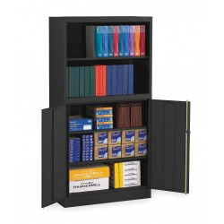 Tennsco - BCD18-72BK - Bookcase Storage Cabinet, Black