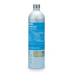 MSA - 10048280 - MSA 34 Liter Econo-Cal Cylinder 60 PPM Carbon Monoxide, 1.45% Methane, 15% Oxygen, 20 PPM Hydrogen Sulfide Balance Nitrogen Calibration Gas For Solaris Multi-Gas Detector, ( Each )