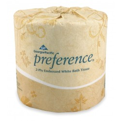 "Georgia Pacific - 1828001 - Georgia-Pacific Preference Embossed Bath Tissue - 2 Ply - 4"" x 4.05"" - 550 Sheets/Roll - White - Durable, Absorbent - For Restroom - 80 / Carton"