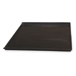 Molded Fiberglass - 2181092203 - Tray with Drop Sides, Black, 1H x 22-1/2L x 20W, 1EA