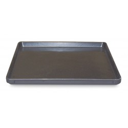 Molded Fiberglass - 6290005167 - Stacking Tray, Black, 1-1/4H x 19-1/2L x 19-1/2W, 1EA