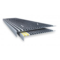 Wooster - 500BLA3-6 - Black, Extruded Aluminum Stair Tread Cover, Installation Method: Fasteners, Beveled Edge Type, 42 W