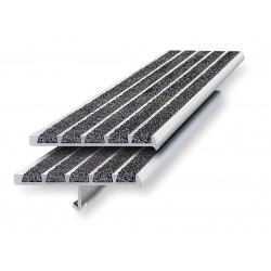 Wooster - 131-4 - Black, Extruded Aluminum Stair Nosing, Installation Method: Fasteners, 48 Width