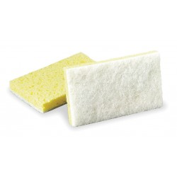 "3M - 08251 - Scotch-Brite Light Duty Scrubbing Sponge - 0.7"" Height x 3.6"" Width x 6.1"" Length - 20/Carton - Yellow, White"