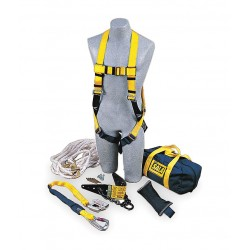 DBI / Sala - 2104168 - Yellow/Blue, Universal Size Roofers Harness Kit, 310 lb. Weight Capacity, Pass-Thru Leg Strap Buckle