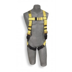 DBI / Sala - 1103513 - Universal Construction Full Body Harness, 6000 lb. Tensile Strength, 420 lb. Weight Capacity, Blue/Y