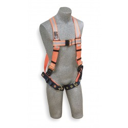 DBI / Sala - 1106201 - Universal General Industry Full Body Harness, 6000 lb. Tensile Strength, 420 lb. Weight Capacity, Bl