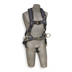 DBI / Sala - 1110178 - XL Construction Full Body Harness, 6000 lb. Tensile Strength, 420 lb. Weight Capacity, Blue/Gray