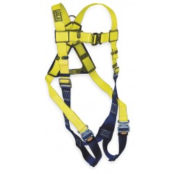 DBI / Sala - 1110600 - Universal Construction Full Body Harness, 6000 lb. Tensile Strength, 420 lb. Weight Capacity, Black/