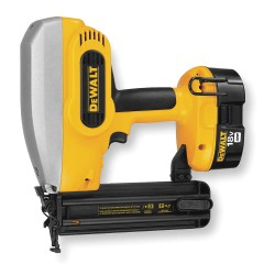 "Dewalt - DC608K - Cordless Brad Nailer Kit, Voltage 18.0 NiCd, Battery Included, Fastener Range 5/8"" to 2"""