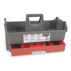 Continental Commercial - G1911 - Tool Organizer/Caddy, Gray w/Black Drawer Plastic