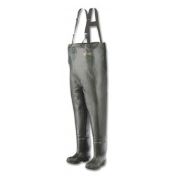 Honeywell - A2070/6 - Men's Plain Toe, Rubber, Cotton Lining Chest Waders, Forest Green, Sz 6