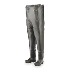 Honeywell - A2070/9 - Men's Plain Toe, Rubber, Cotton Lining Chest Waders, Forest Green, Sz 9