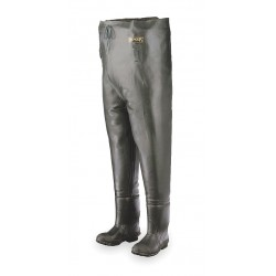Honeywell - A2070/14 - Men's Plain Toe, Rubber, Cotton Lining Chest Waders, Forest Green, Sz 14