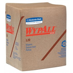 "Kimberly-Clark - 47000 - Wypall WypAll L20 Natural Kraft Wipers - Wipe - 12.50"" Width x 14.40"" Length - 68 / Packet - 12 / Carton - Tan"