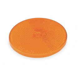 Grote - 40093 - Reflector, Screw-On, Yellow, Dia 2 1/2 In