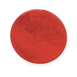 Grote - 40152 - Reflector, Screw Mount, Red, Dia 3-1/4 In