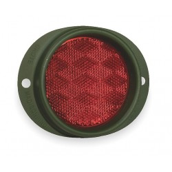 Grote - 40162 - Reflector, Military, Red, Dia 3 5/8 In