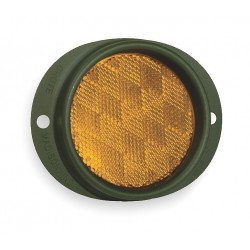 Grote - 40163 - Reflector, Military, Yellow, Dia 3 5/8 In