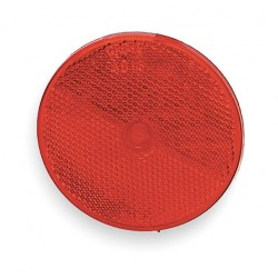 Grote - 41012 - Reflector, Screw-On, Red, Round, Dia 2 In