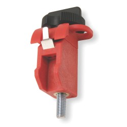 Brady - 90853 - Brady Red 1' X 1' Glass Filled Nylon Tie Bar Miniature Circuit Breaker Lockout With 9/32' Shackle, ( Package )