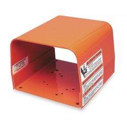 Linemaster - 522-B14 - Orange Steel Foot Switch Guard, 6 Length, 6 Width, 4-1/2 Depth