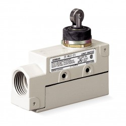 Omron - ZE-N22-2S - Plunger, Roller General Purpose Limit Switch; Location: Top, Contact Form: SPDT, Top Movement