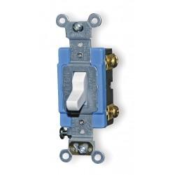 Leviton - 1201-LHW - Leviton 1201-LHW Single-Pole Lighted Handle Switch, 15A, 120V, White