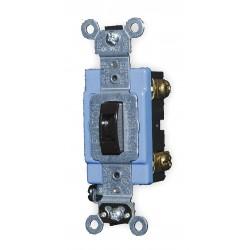 Leviton - 1203-2L - Leviton 1203-2L 3-Way Locking Toggle Switch, 15A, 120/277V, Brown, Industrial Grade