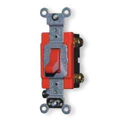 Leviton - 12212R - Leviton Hard Wire Switch - Toggle Switch - Motor Control - Red