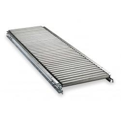 Ashland Conveyor - 11F05EG03B13 - Roller Conveyor, 5 ft. L, 13BF