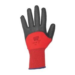 Honeywell - NF11X/8M - Coated Gloves, M, Black/Red, PR