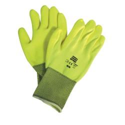 Honeywell - NF11HVY/7S - Coated Gloves, S, Hi Vis Yellow, PR