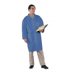 Kimberly-Clark - 45513 - Blue Spunbond-Film-SMS Laminate Disposable Lab Coat, Size: L